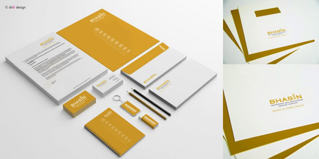 bhasin properties and developers ~ corporate identity | dn8 design ...